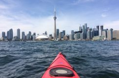 Kayaking in Toronto - CN Tower
